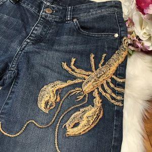Anthropologie ETT twa Lobster shorts size 25